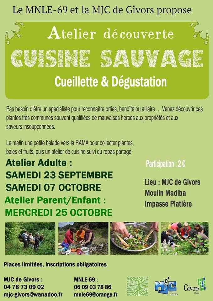 Atelier Cuisine Sauvage @ MJC Madiba | Givors | Auvergne-Rhône-Alpes | France